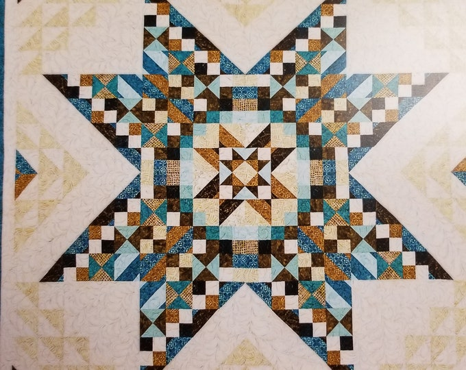 Lace Star Quilt Kit, 8 Simple Steps to  Queen Size Quilt Kit