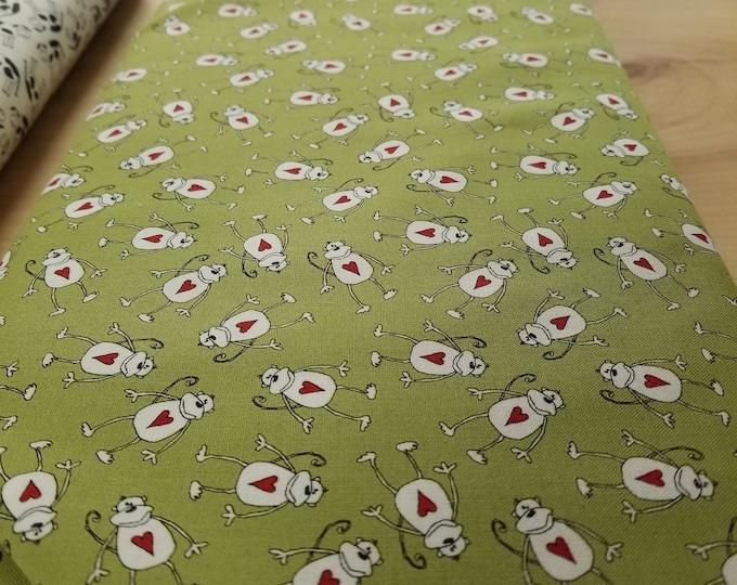 Heart Animals Quilt Fabric,  Valentine Animal Friends Fabric