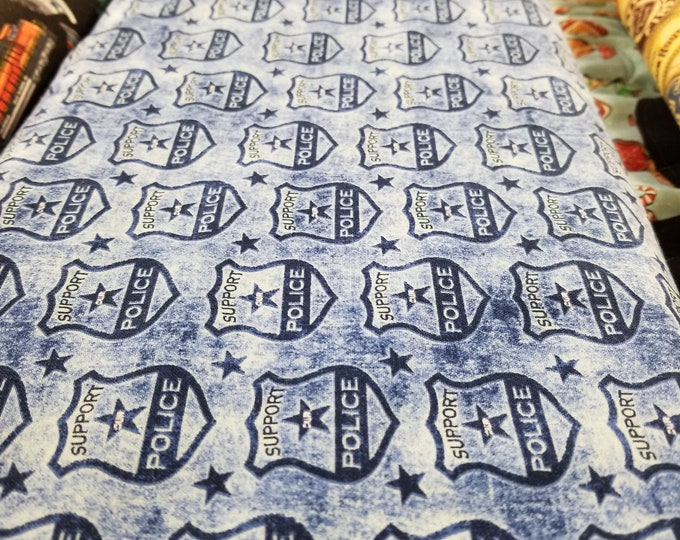 Police Quilt Fabric, Back the Blue fabric