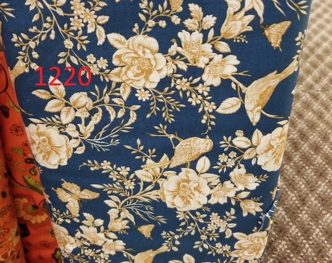 Floral Quilt Fabric, Cut to order fabric   1220-1236