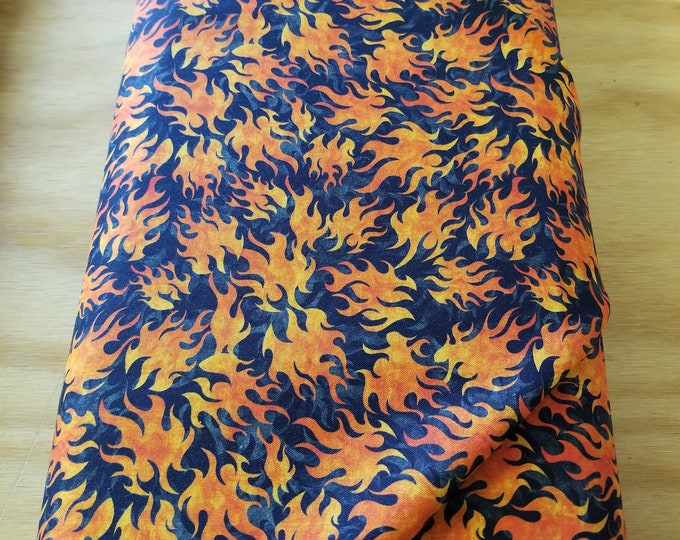Flames Quilt Fabric, Fire Fabric