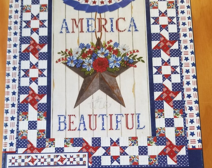 America the Beautiful Quilt Kit, America the Beautiful Quilt Top Kit w/pattern, makes 2 projects