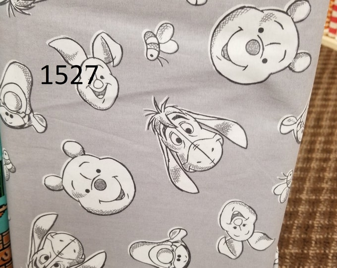 Children Themed Novelty Quilt Fabric, Cut to order fabric, Disney, Winnie the Pooh, Snoopy, Mario  1527-1536
