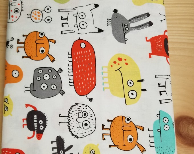 Monster Quilt Fabric, Cartoon Monster Fabric