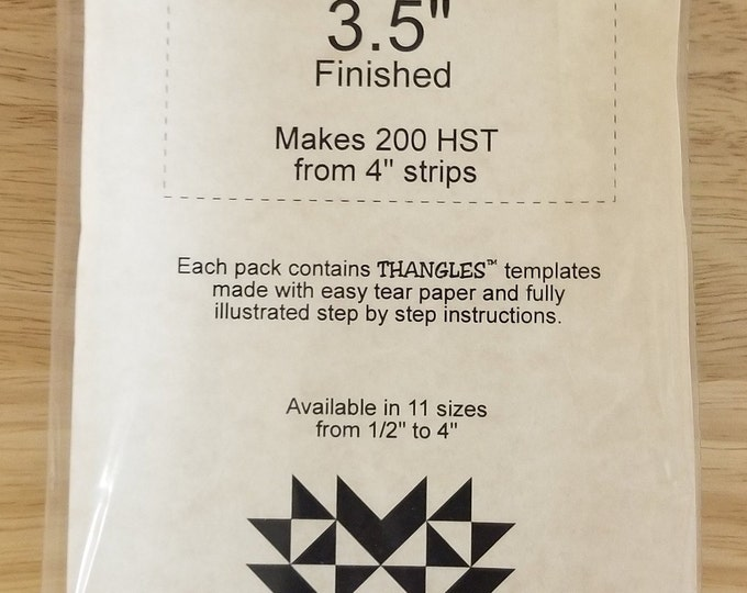Thangles, The fast, easy, and accurate way to make half square triangles from strips. Clearance 50% off