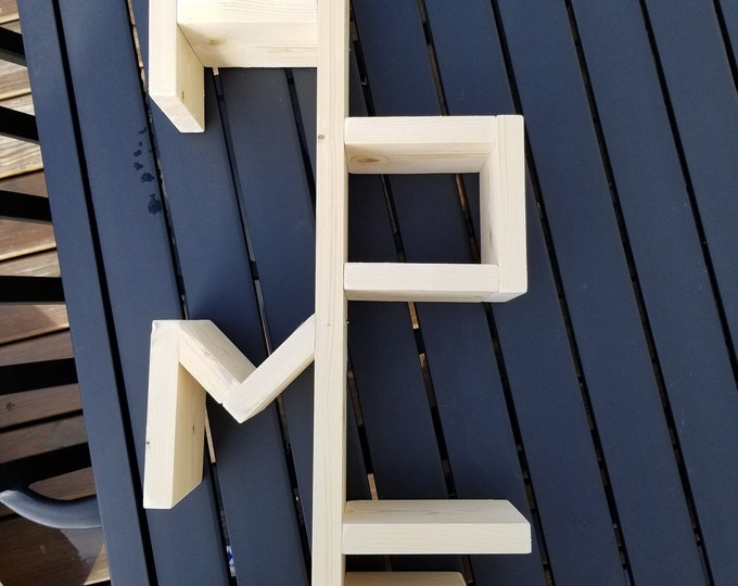 Wooden Home Shelf, Wall Hanging Home Sign