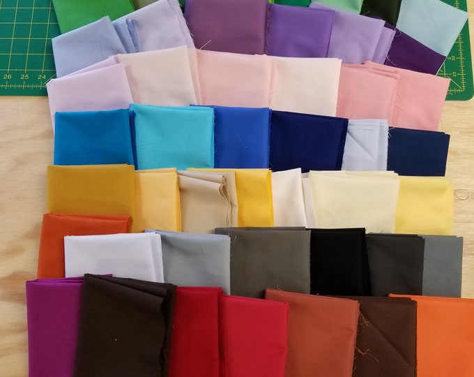 Fat Quarter Bundle-All Solids, 48 Colors