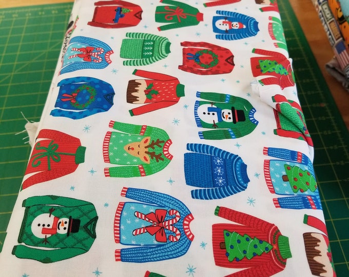 Christmas Sweater Quilt Fabric,  Sweater Weather Fabric