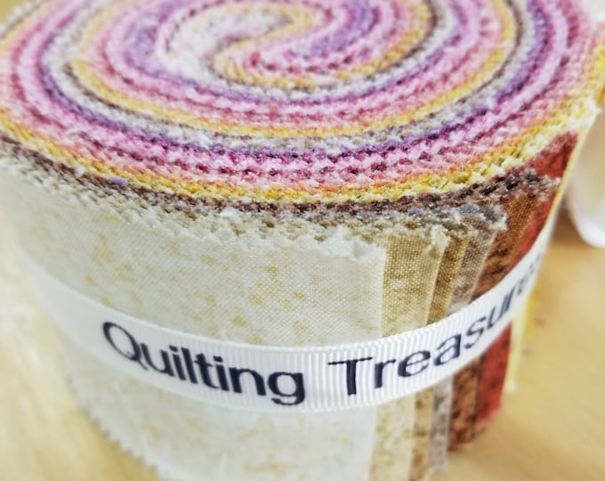 "Color Blends ""Warm"" Strips, Jelly Roll, Fbaric Strips, Quilting Treasures"