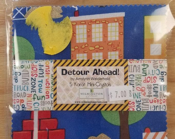"Detour Ahead Charm Pack, 5"" Charm Square Fabric"