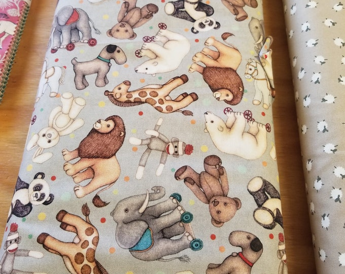 Stuffed Animal Quilt Fabric, Colorful Toy Fabric