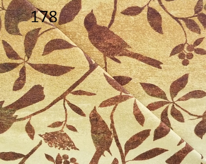 Stonehenge Fabric, Northcott, Cut to order fabric, tan, copper, green, leaves, 176-199