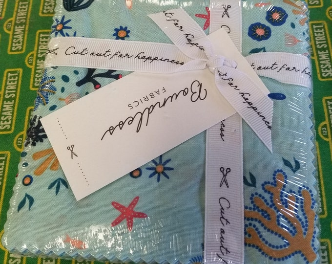 Seascape Boundless Charm Pack,   Cut out for Happiness Fabric Charm Pack