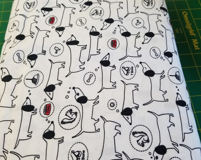 Hot Diggity Dog Quilt Fabric, Dog/Puppy Fabric