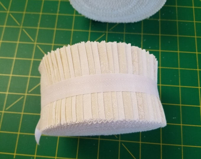 White and Cream Neutral Jelly Roll, Cream and White Jelly Roll