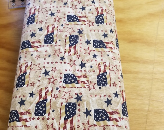 US Flag Quilt Fabric, Stars and Stripes fabric, Old Glory, American Flag Fabric