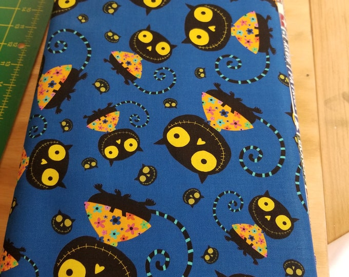 Creepy Halloweenies Quilt Fabric, Cartoon Monster Fabric