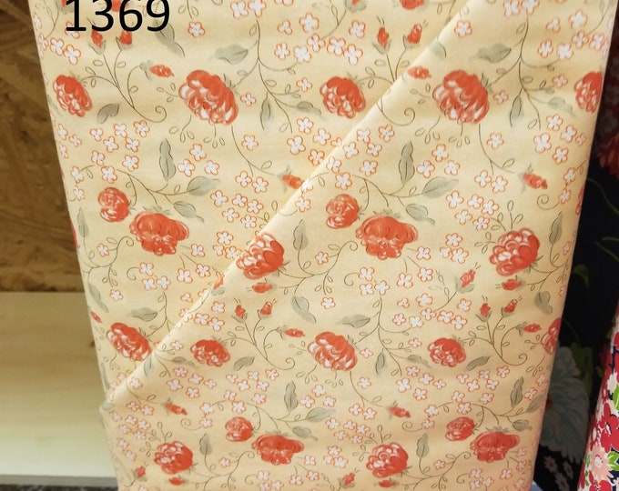 Floral Quilt Fabric, Cut to order fabric   1369-1383