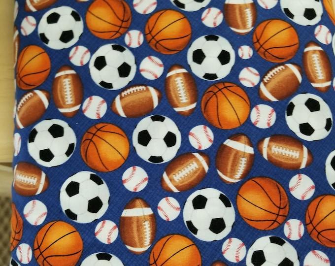 Sports Balls Quilt Fabric, Sports Fabric