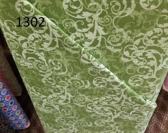 Floral Quilt Fabric, Cut to order fabric   1302-1311