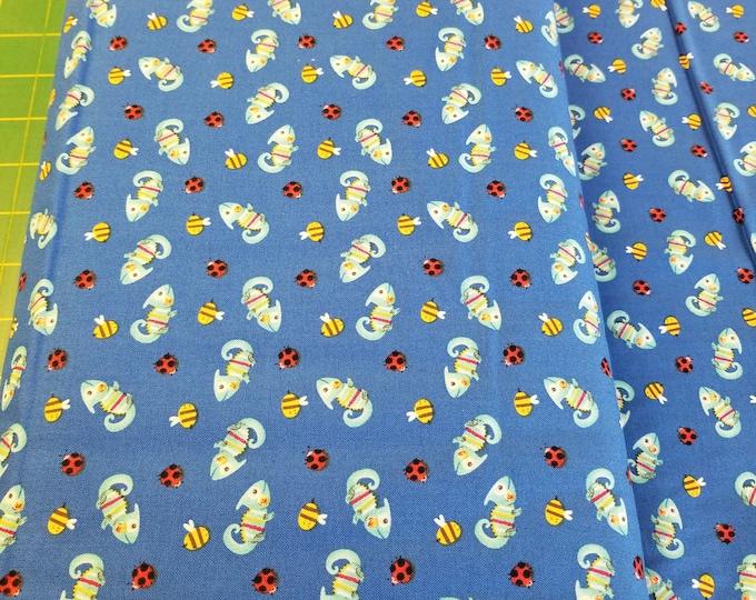 Lizard Quilt Fabric, Fun Lizard Fabric