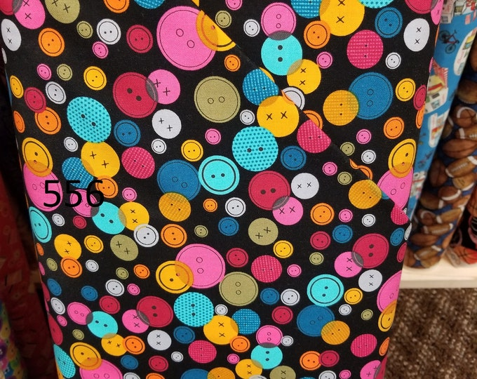 Quilting/ Sewing Themed Quilt Fabric, Cut to order fabric, Button, Thread, 556-566
