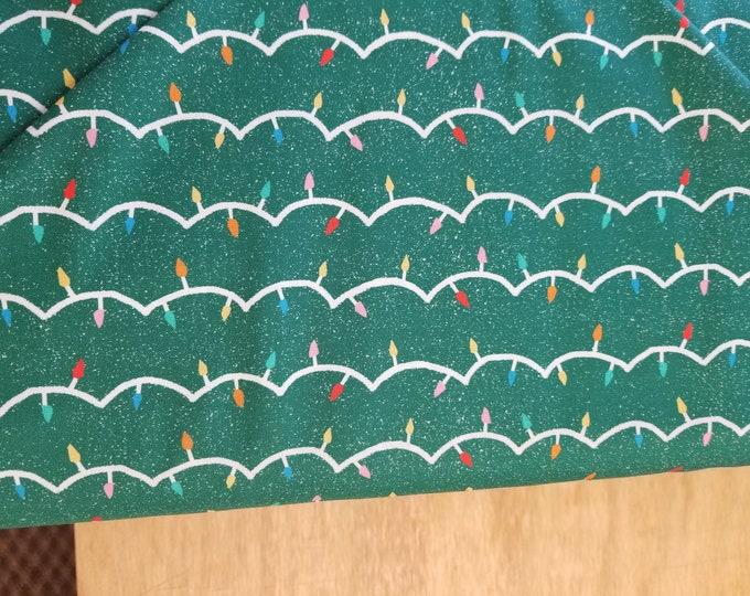 Christmas Lights Quilt Fabric,  Santas Helpers Fabric