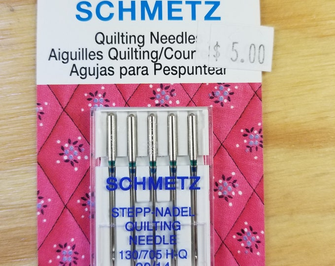 90/14 Machine Needles, Quilting, Top Stitch, Metallic, Universal, High Speed
