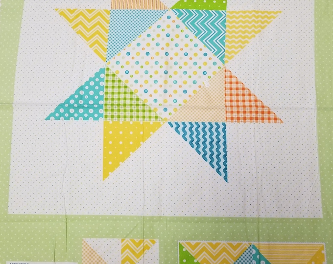Baby Blanket Panel, Receiving Blanket, Flannel Quilt Panel, Baby Quilt, Fabric Panel, Instructions