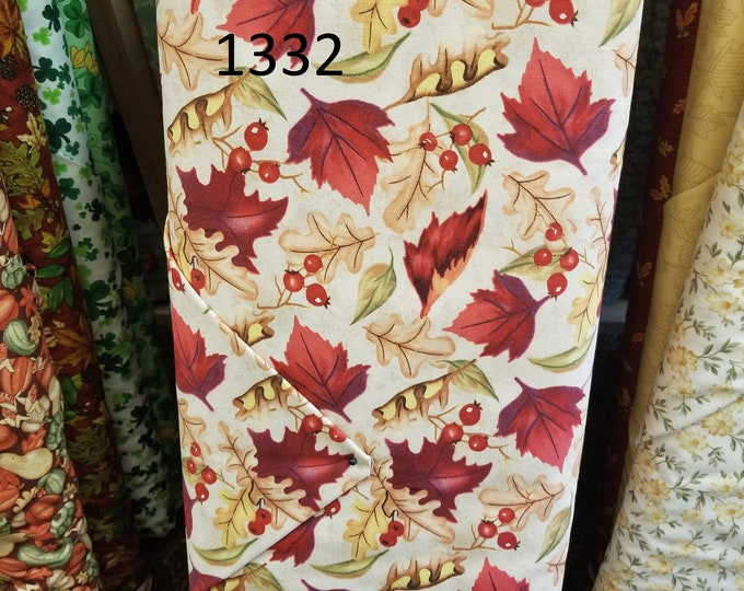 Holiday Novelty Quilt Fabric, Cut to order fabric, Thanksgiving, Halloween, Valentines  1332-1347