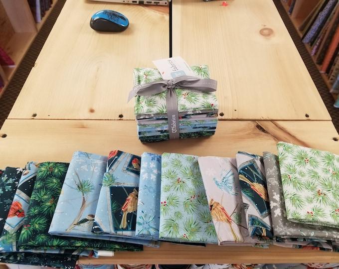 Fat Quarter Bundle of Assorted Christmas Fabrics, Christms Fabric Fat Quarter Bundle