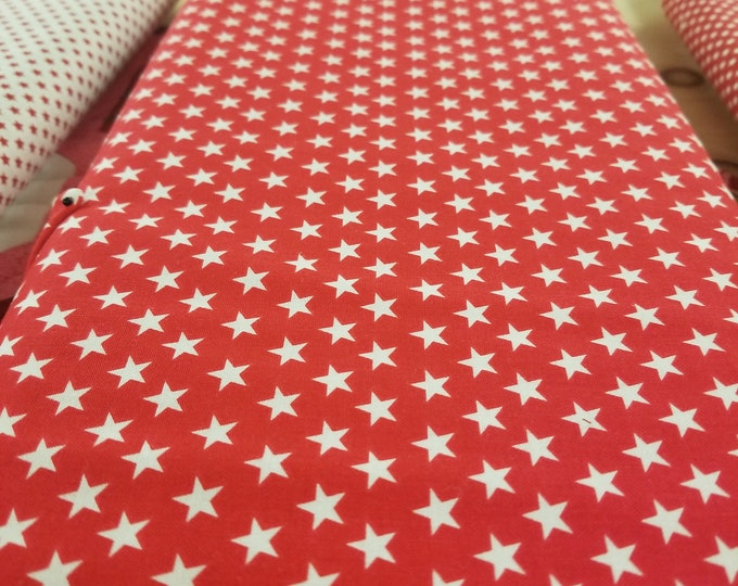 Red and White Stars Quilt Fabric, Freedom Bound Fabric, Patriotic Fabric