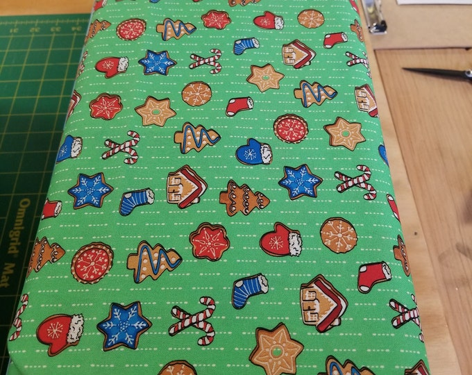 Christmas Gingerbread Quilt Fabric,  Sweater Weather Fabric