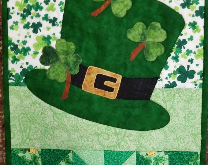 Homemade St. Patrick's Day Wall Hanging, Handmade Irish Decorative Wall Hanging