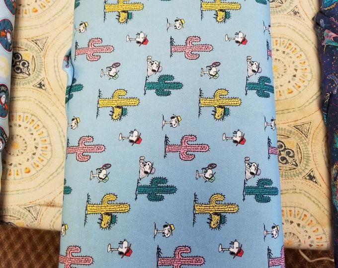 Snoopy & Cactus Quilt Fabric, Peanuts Fabric