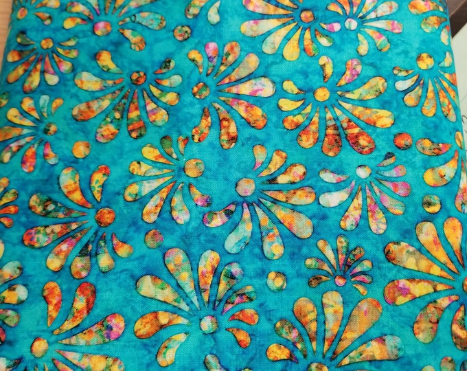 Radiance Swirl Quilt Fabric, Multi Colored Radiance Flower Fabric