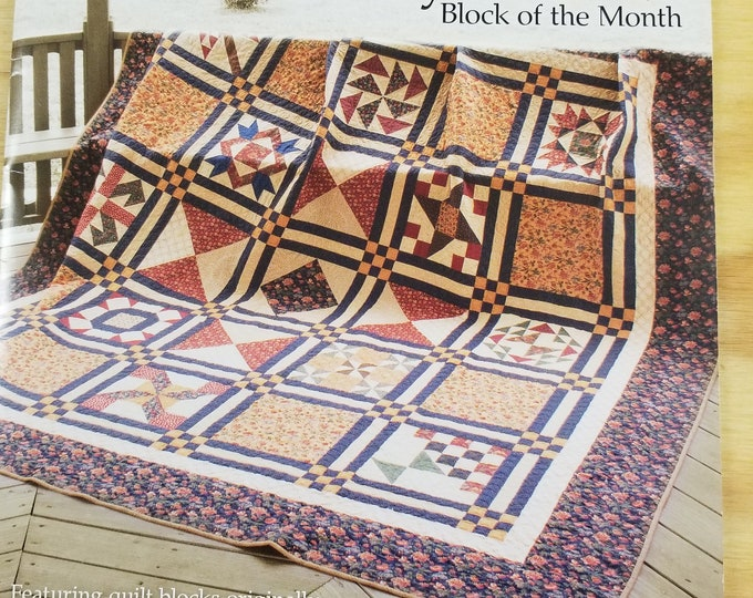 Heirloom Kansas City Star Quilt Kit, Block of the Month King Size Quilt Kit