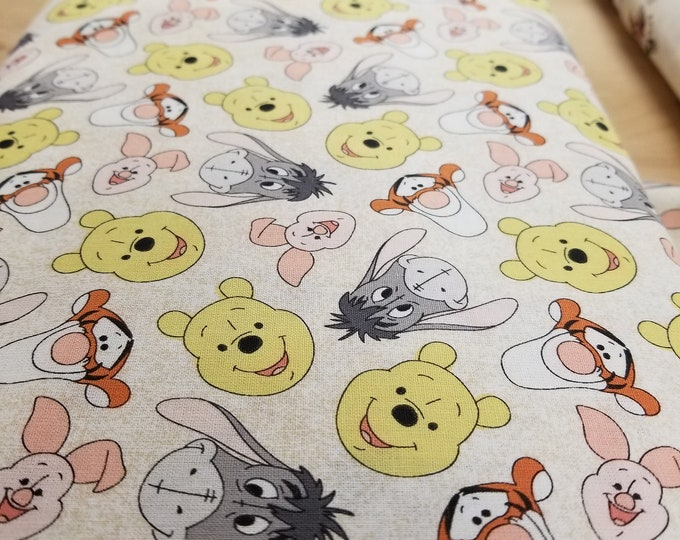 Winnie the Pooh and Friends Quilt Fabric, Disney Fabric