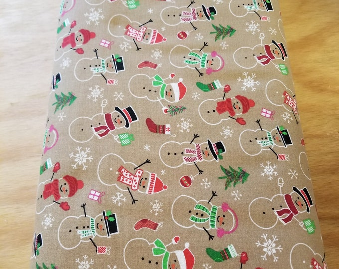 Christmas Snowman Quilt Fabric,  Wintertime Fabric