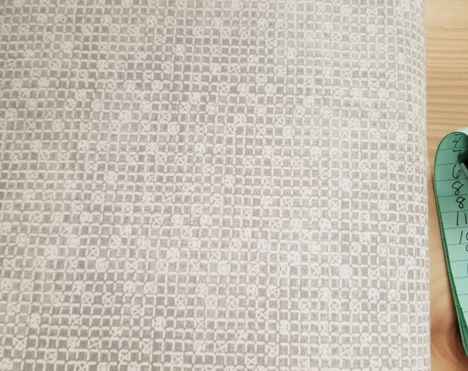Gray Square Quilt Fabric, Grey Check Fabric