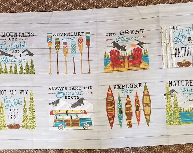 Explore The Outdoors Fabric Panel, Outdoor Adventures Panel