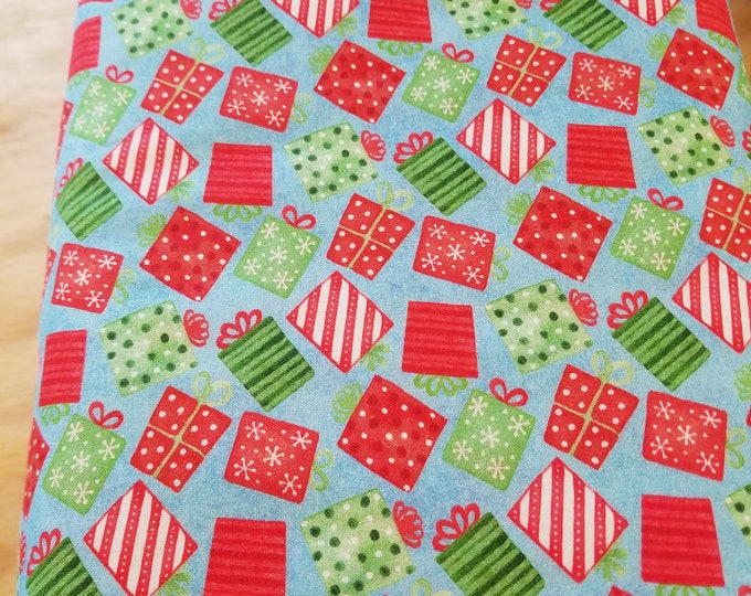 Christmas Gifts Quilt Fabric,  Wintertime Fabric