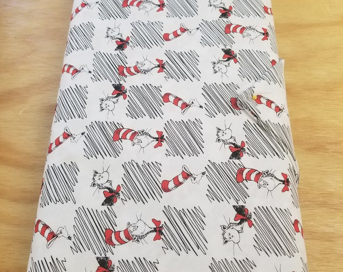 Dr Seuss Themed Quilt Fabric, Cat In The Hat Fabric