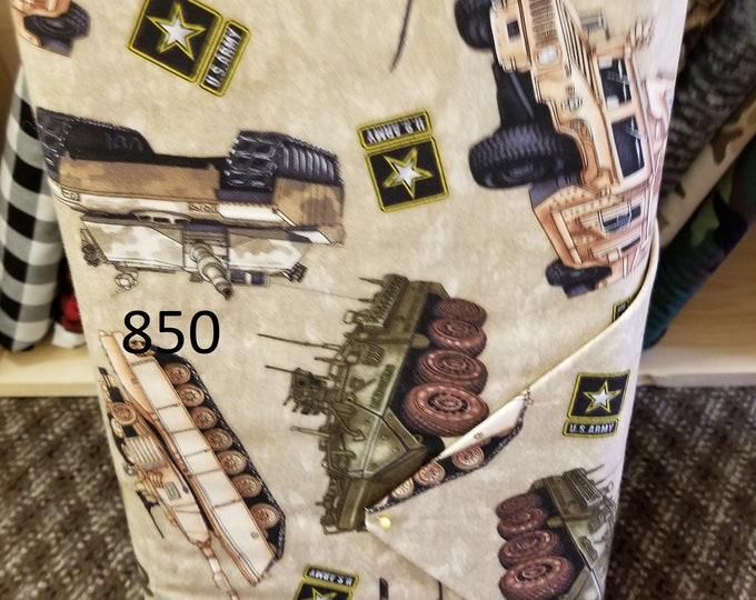 Military/ USA Novelty Quilt Fabric, Cut to order fabric, Army, Flags, Stars   850-859