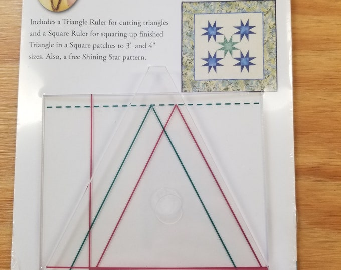 Triangle in a Square Ruler, Quilt in a Day,