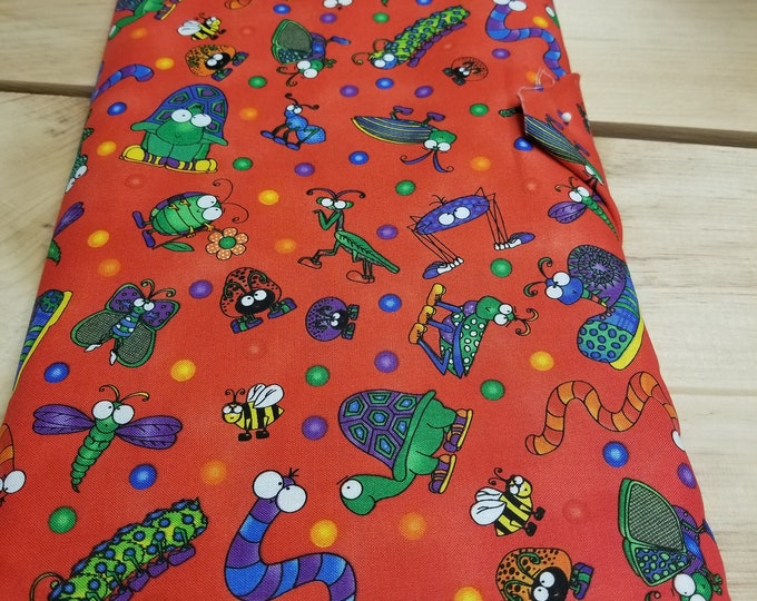 What's Bugging You Quilt Fabric, Frogs, Turtles, Bugs and Snails Fabric