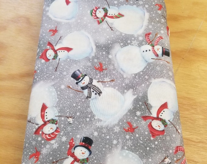 Christmas Snowman Quilt Fabric, Frosty, Wintertime Fabric