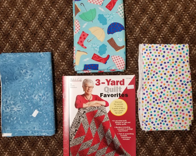 Easy Peesy 3 Yard Quilt Kits,  Fast and Fun Lap Quilt Kit