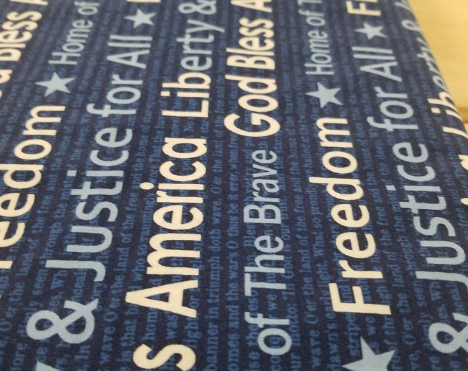 God Bless America Quilt Fabric, Home of the Brave fabric