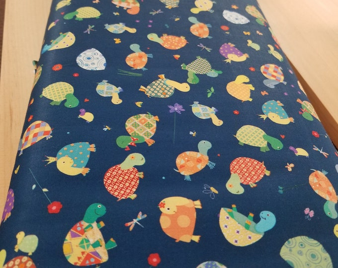 Turtle Quilt Fabric, Colorful Turtle Fabric